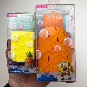 SPONGEBOB Makeup Sponge & Pineapple Sponge Case